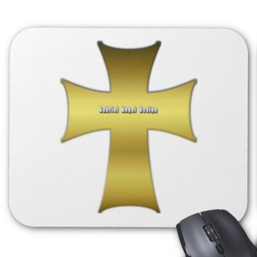 Golden Cross Mousepad