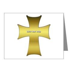 Golden Cross Note Cards (Pk of 20)