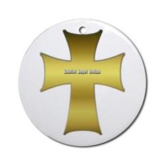 Golden Cross Ornament (Round)