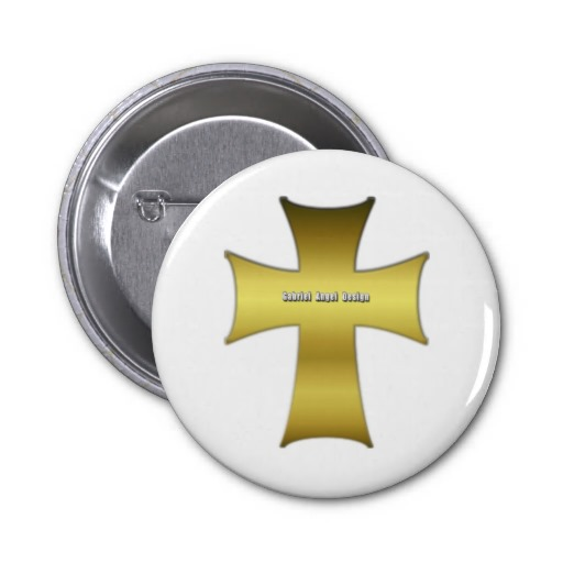 Golden Cross Pinback Button
