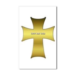 Golden Cross Rectangle Decal