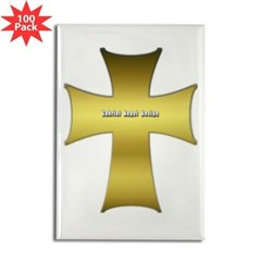Golden Cross Rectangle Magnet (100 pack)