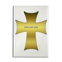 Golden Cross Rectangle Magnet
