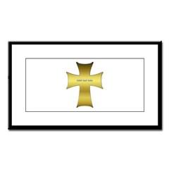 Golden Cross Small Framed Print