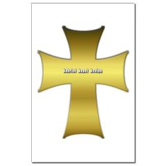 Golden Cross Small Posters