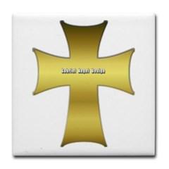 Golden Cross Tile Coaster