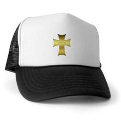 Golden Cross Trucker Hat