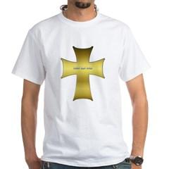 Golden Cross White T-Shirt