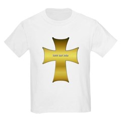 Golden Cross Youth T-Shirt by Hanes