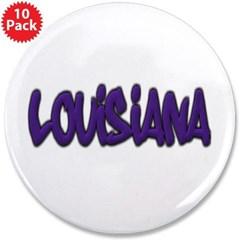 """Louisiana Graffiti 3.5"""" Button (10 pack)"""