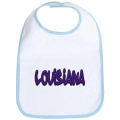 Louisiana Graffiti Baby Bib