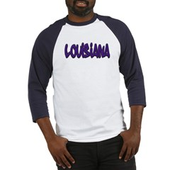Louisiana Graffiti Baseball Jersey T-Shirt