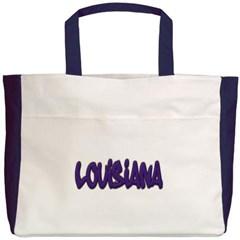 Louisiana Graffiti Beach Tote Bag