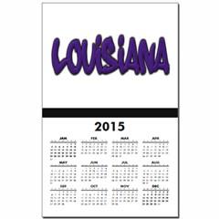 Louisiana Graffiti Calendar Print