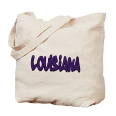 Louisiana Graffiti Canvas Tote Bag