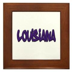 Louisiana Graffiti Framed Tile