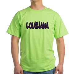 Louisiana Graffiti Green T-Shirt
