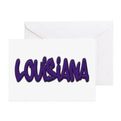Louisiana Graffiti Greeting Card