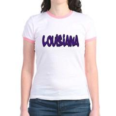 Louisiana Graffiti Junior Ringer T-Shirt