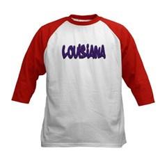 Louisiana Graffiti Kids Baseball Jersey T-Shirt