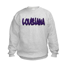 Louisiana Graffiti Kids Crewneck Sweatshirt by Hanes