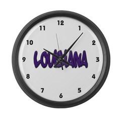 Louisiana Graffiti Large Wall Clock