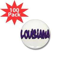 Louisiana Graffiti Mini Button (100 pack)