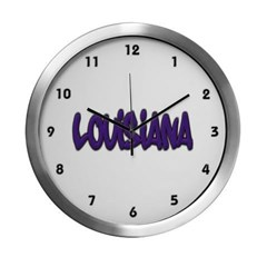 Louisiana Graffiti Modern Wall Clock