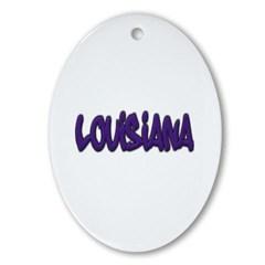 Louisiana Graffiti Ornament (Oval)