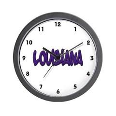 Louisiana Graffiti Wall Clock