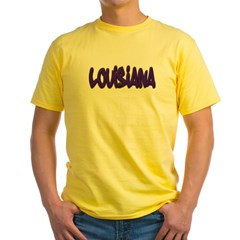 Louisiana Graffiti Yellow T-Shirt