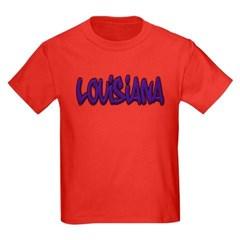 Louisiana Graffiti Youth Dark T-Shirt by Hanes