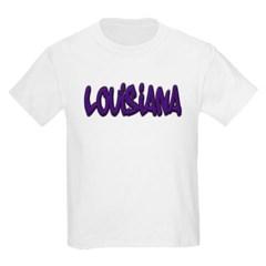 Louisiana Graffiti Youth T-Shirt by Hanes