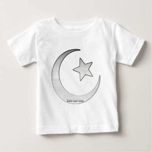 Silver Star and Crescent Baby Fine Jersey T-Shirt