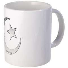 Silver Star and Crescent Coffee Mug