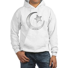 Silver Star and Crescent Hooded Sweatshirt