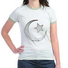 Silver Star and Crescent Junior Ringer T-Shirt