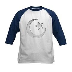 Silver Star and Crescent Kids Baseball Jersey T-Shirt