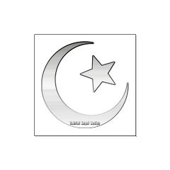 Silver Star and Crescent Large Posters