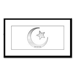 Silver Star and Crescent Small Framed Print