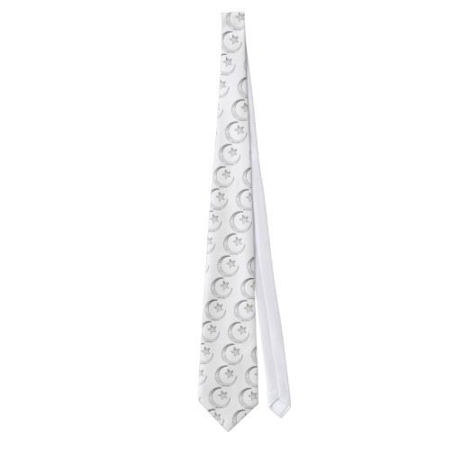 Silver Star and Crescent Tie