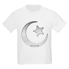 Silver Star and Crescent Youth T-Shirt by Hanes