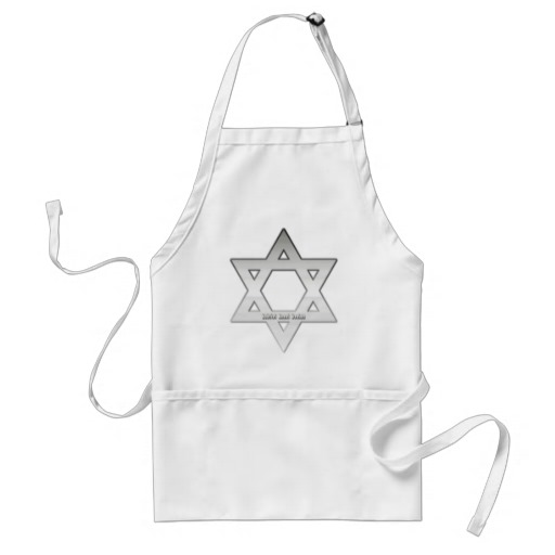 Silver Star of David Adult Apron