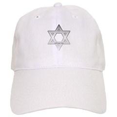 Silver Star of David Baseball Cap