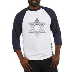 Silver Star of David Baseball Jersey T-Shirt