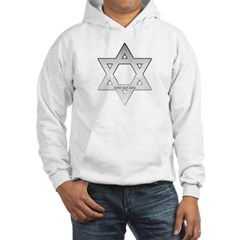 Silver Star of David Hooded Sweatshirt