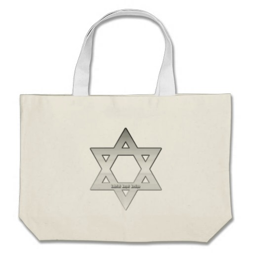 Silver Star of David Jumbo Tote