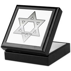Silver Star of David Keepsake Box