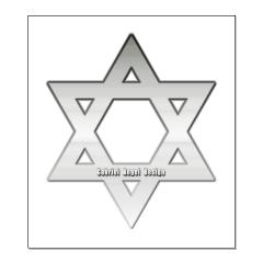 Silver Star of David Posters
