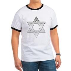 Silver Star of David Ringer T-Shirt